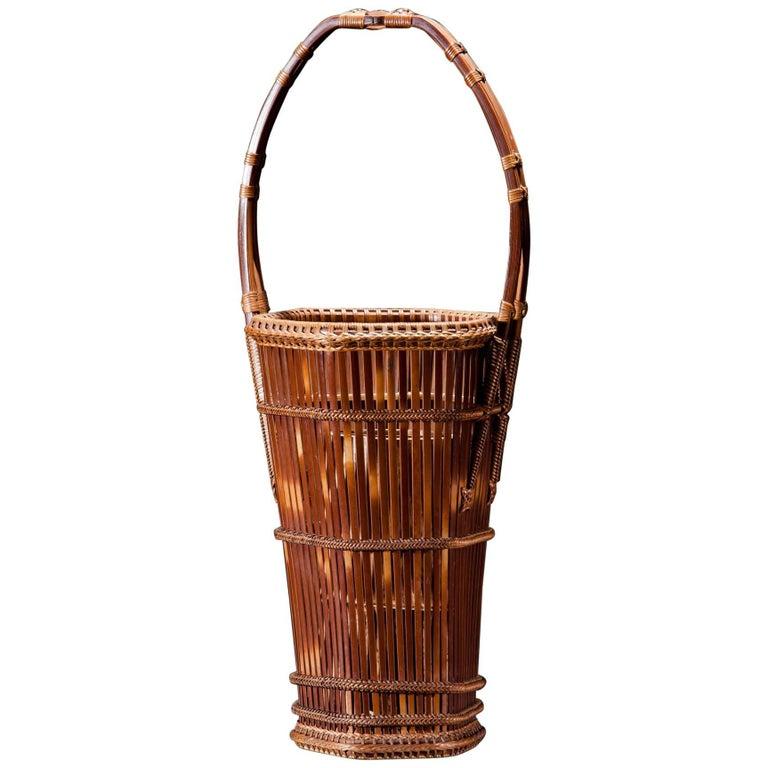 Basket with Handle Bamboo, Japan