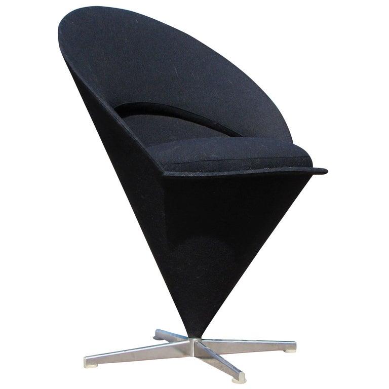 Original 1960s Vintage Verner Panton Cone Chair, Denmark