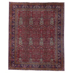 Antique Indian Rug with Traditional Victorian Style and Mughal Design