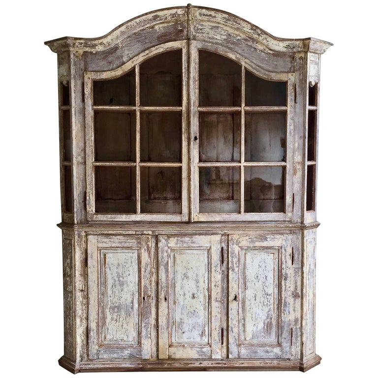 18th Century Bookcase/Vitrine Cabinet