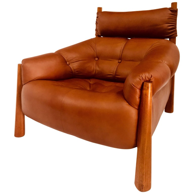 Percival Lafer Leather Armchair, circa 1960s