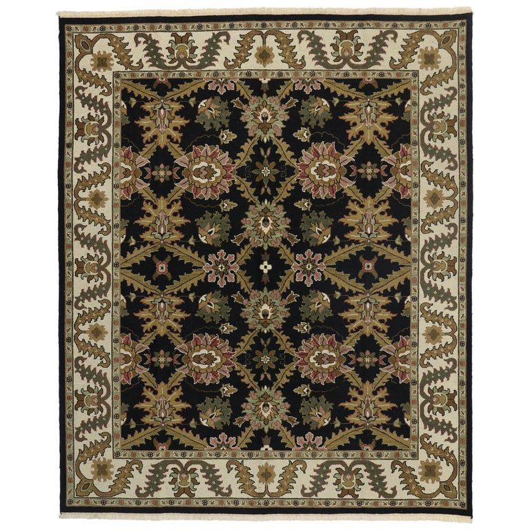 Vintage Persian Sultanabad Style Rug With Dramatic Hollywood Regency