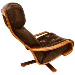 Australian Midcentury Danish Deluxe Leather Armchair, circa 1960s