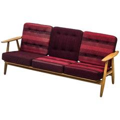 """GE-240 """"Cigar"""" Sofa by Hans J. Wegner, Denmark, 1950s"""