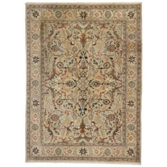 Vintage Traditional Area Rug with Persian Style with Herati Design