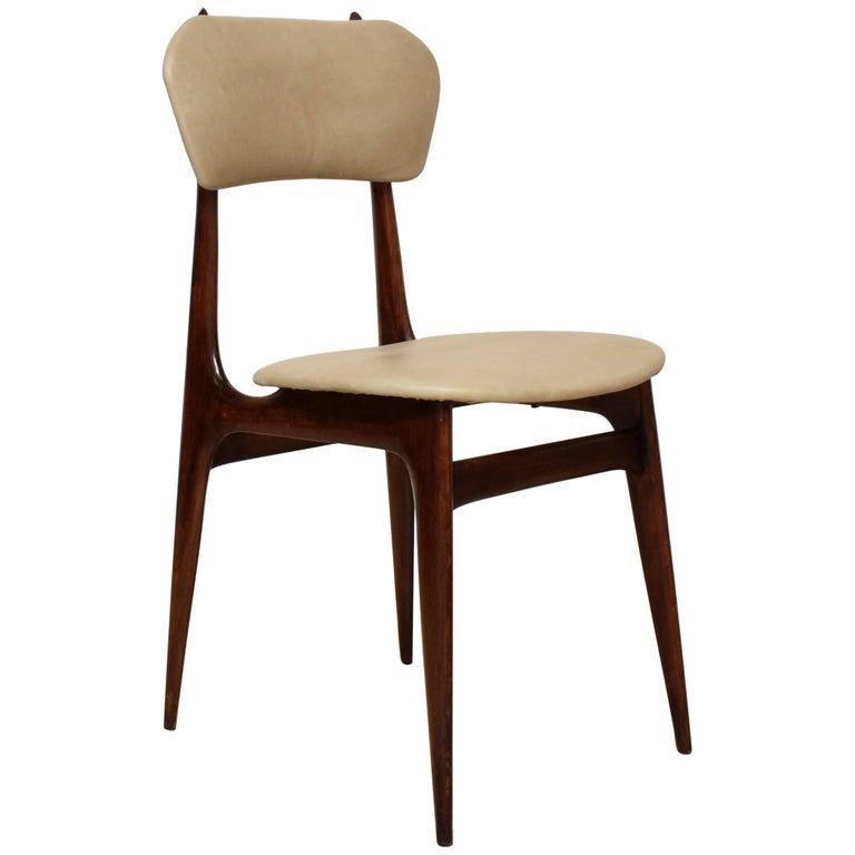 Midcentury Italian Beech Dining/Side Chair, circa 1950