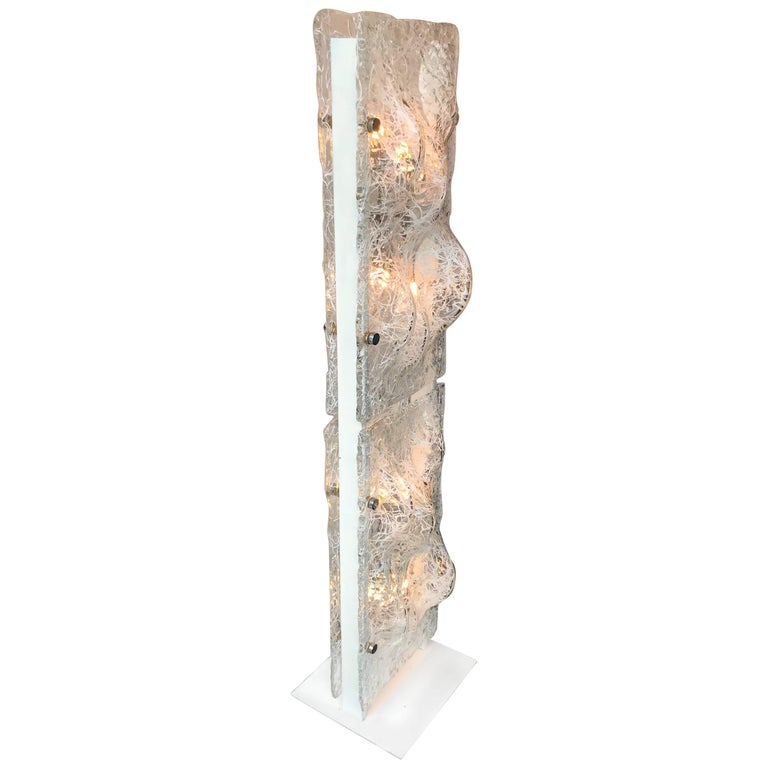 Floor Lamp Murano Glass by Esperia, Italy, 1970s For Sale