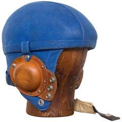 Belgian Air Force Pilot Helmet, 1940-1950 with Hat Block Mannequin Head