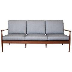 Mid-Century Rosewood Three-Seat Sofa, Denmark, circa 1965