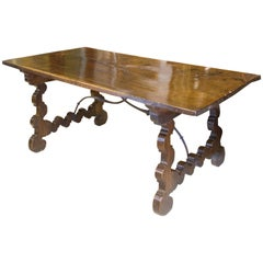 Spanish Table, Walnut, Baroque, 17th Century