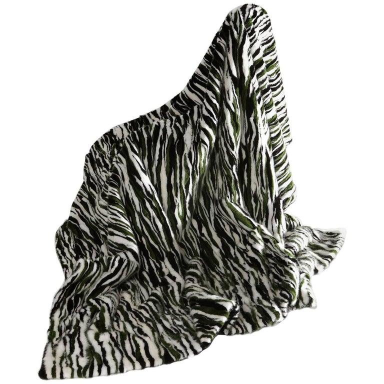 Mink Fur Throw Cashmere Lining