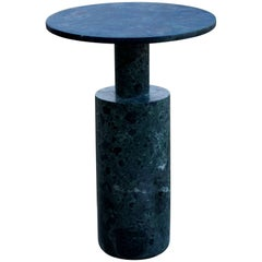 Contemporary Green Plateau Limited Edition Side Table in Moss Green Marble