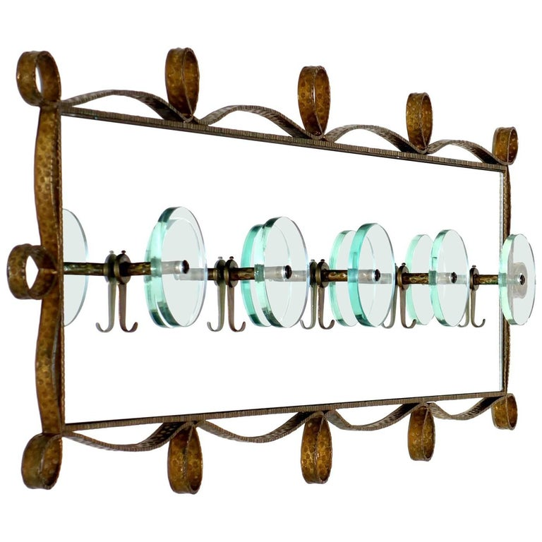 1950s Pierluigi Colli Italian Midcentury Design Coat Rack