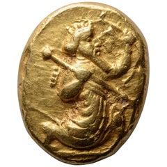 Ancient Gold Persian Achaemenid Empire Daric Coin, 420 BC