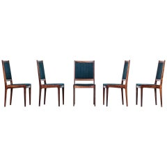 Set of Five Rosewood Dining Chairs, 1960s