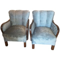 Pair of Art Deco German Armchairs