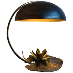Lilipad Bronze Lamp by Maison Charles, France, 1970s