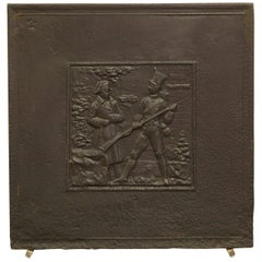 Antique Fireback Showing Napoleon on the Battlefield