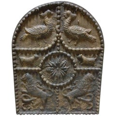Molten Iron Fireplace Plaque, Cast Iron, 19th Century