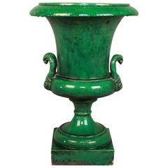 Large French Ceramic 'Medici' Vase, Late 19th Century