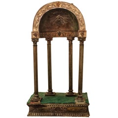 Antique Tuscany Metal Wood Tabernacle in Antonio da Sangallo Style, Italy
