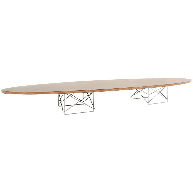 "Early Eames ETR ""Surfboard"" Coffee Table by Herman Miller"