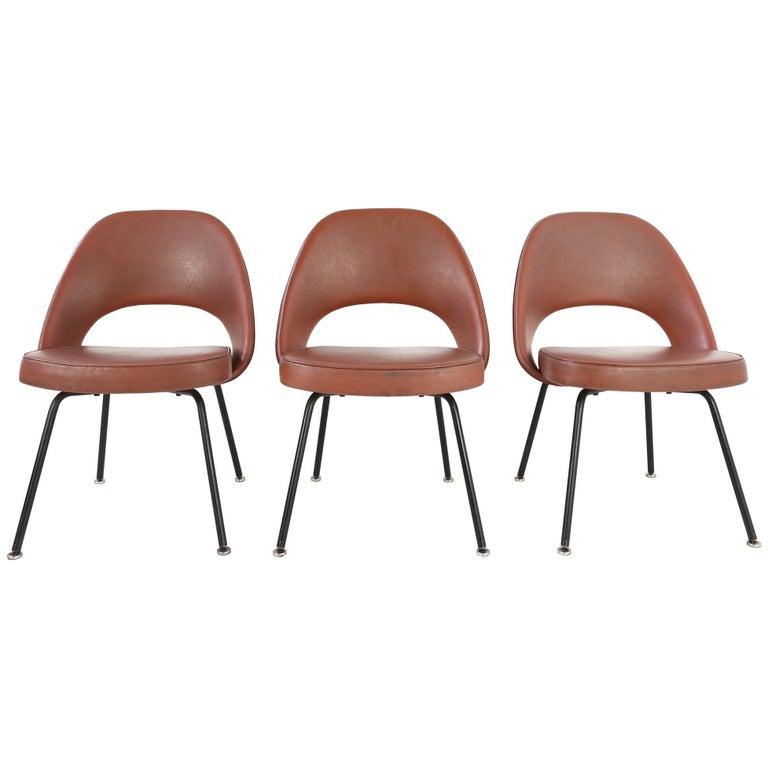 Set of Two Eero Saarinen Series 71 Armless Chair for Knoll, 1960s De Coene
