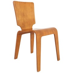Bent Plywood Side Chair by Thaden-Jordan Furniture, 1940s / Han Pieck Style