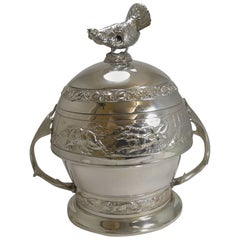 Grand Silver Plated Hunting Tureen by WMF, circa 1920, Signed