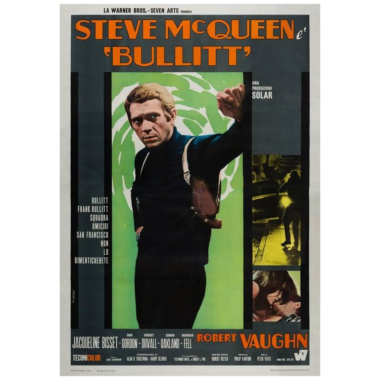 Bullitt Original Italian Film Poster, 1968