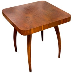 Spider Table H-259 in oak by Jindrich Halabala, 1950s, Czechoslovakia
