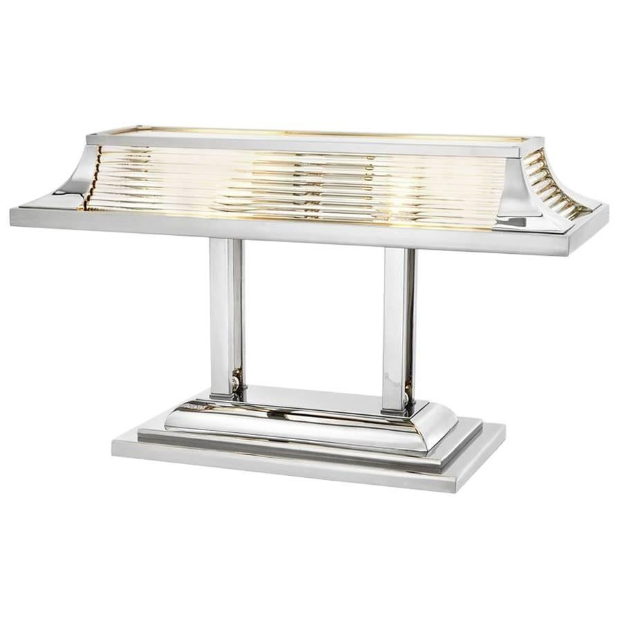 Grand Desk Table Lamp in Nickel Finish