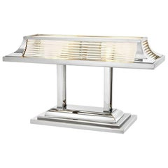 Grand Desk Table Lamp in Nickel Finish