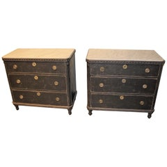 Nice Pair off 19th Century Swedish Chest of Drawers