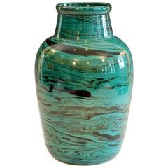 Big Bitossi Raymor Vintage Italian Marbleized Pottery Marbled Label Ceramic Vase