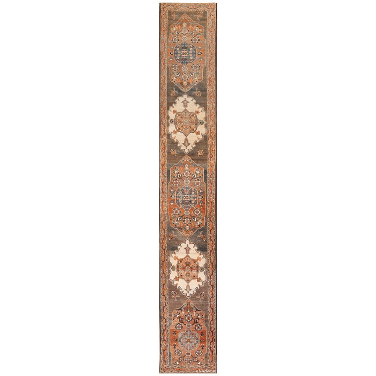 Long and Narrow Antique Persian Tabriz Runner Rug For Sale