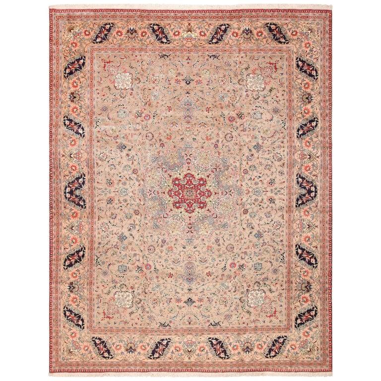 Fine Decorative Large Vintage Persian Tabriz Rug