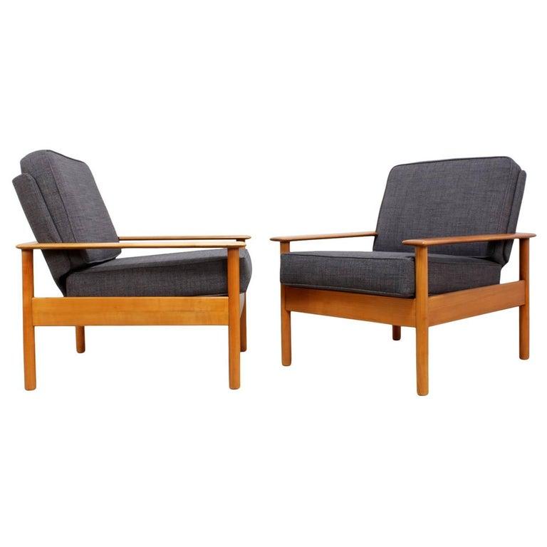 Pair of Danish Easy Chairs, circa 1960