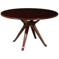 Table Designed by Osvaldo Borsani Mahogany Vintage, Italy, 1950s