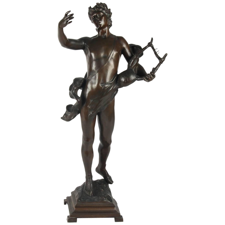 Antique Bronze Sculpture, Signed on Base, G.Devreese