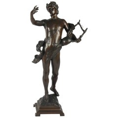 Antique Bronze Sculpture, Signed on Base, G.Devreese