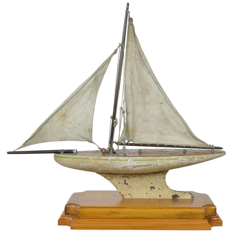 Small Antique Pond Yacht, English, 1920s For Sale