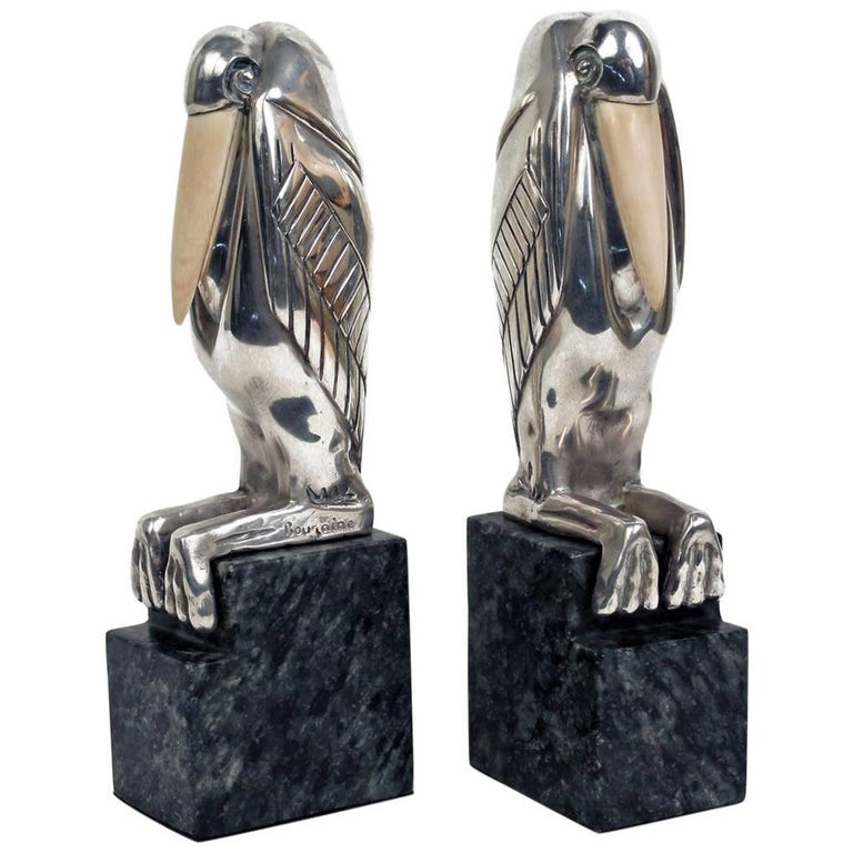 Art Deco Bookends by Marcel Bouraine