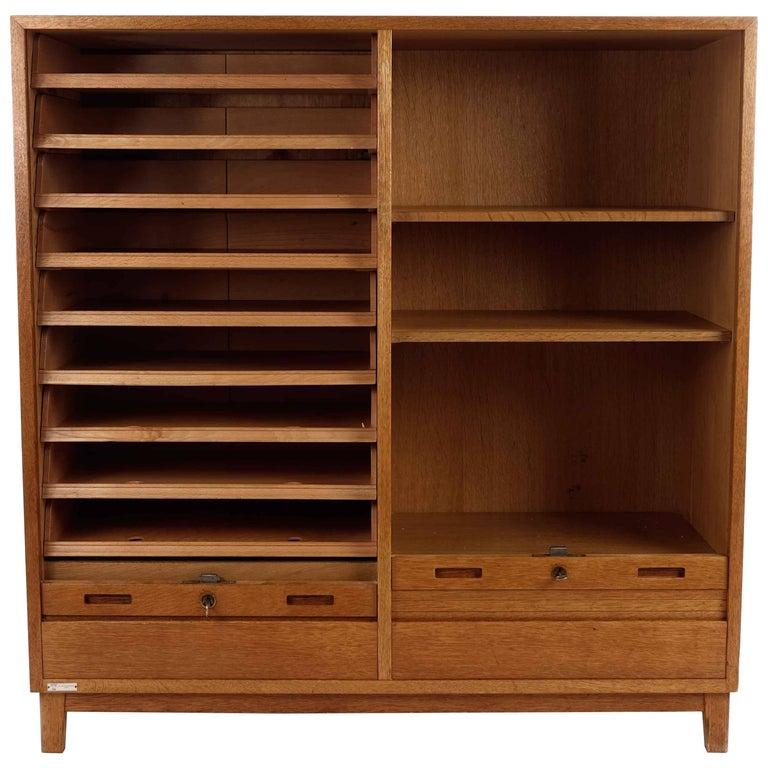 Swedish Roll Top Storage Cabinet