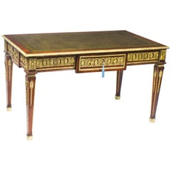 Early 20th Century French Empire Revival Bureau Plat Desk Writing Table