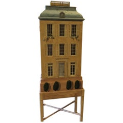 Eric Lansdown Hand-Painted Doll House on Stand