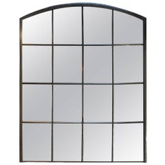 Industrial Riveted Iron Factory 1920s Windows Mirror