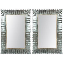 Modern Aqua Green Murano Glass Mirrors