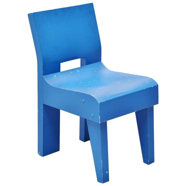 Martin Visser Modernist Prototype Chair SE20 Spectrum, 1988