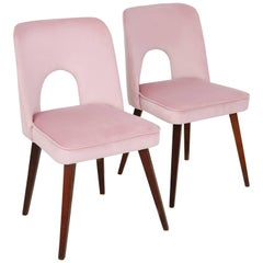 "Set of Two Baby Pink ""Shell"" Chairs, 1960s"